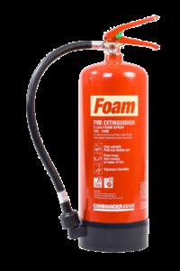 Portable foam fire extinguishers